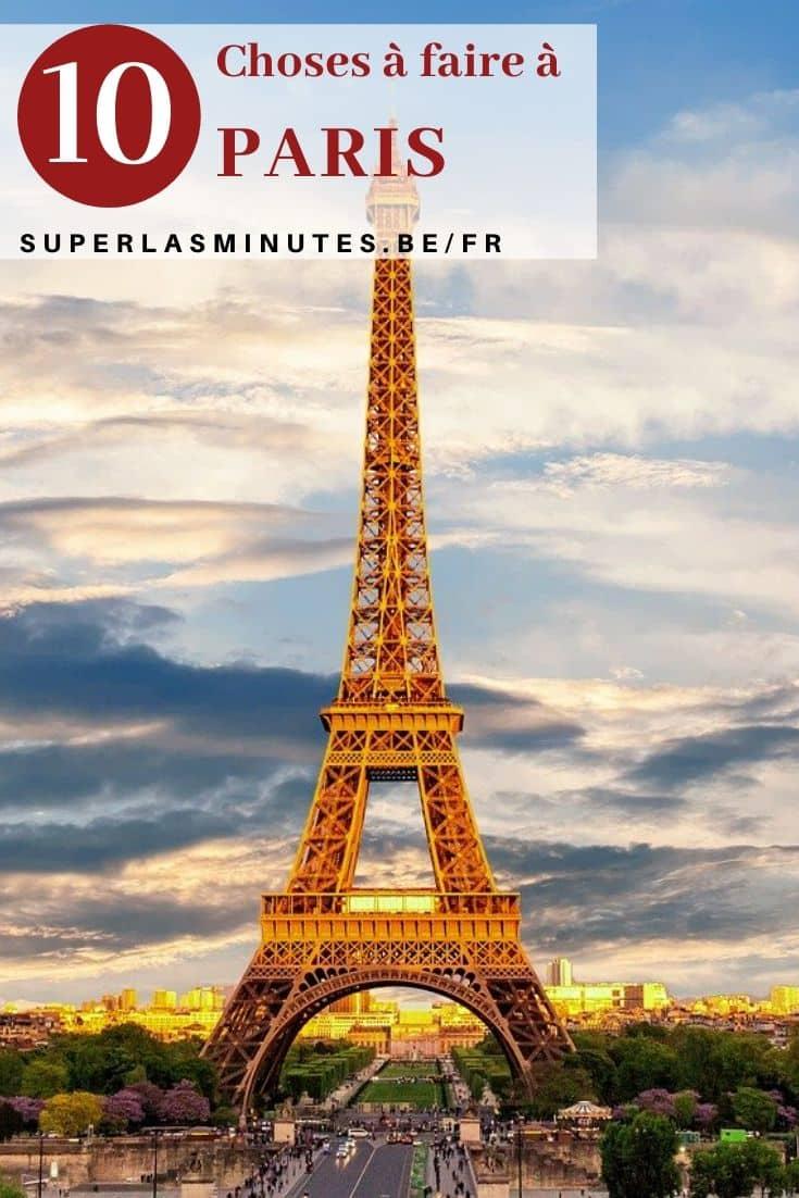 choses à faire à Paris